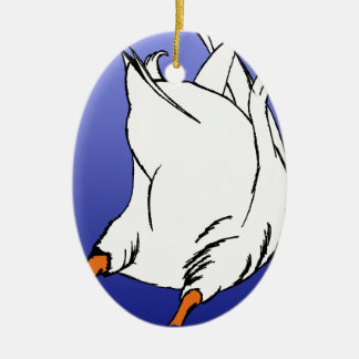 Duck Butt Postage Stamp Christmas Tree Ornament