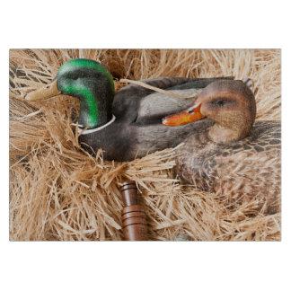 Duck Call Mallard Drake Huntin Glass Cutting Board