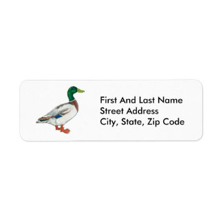 Duck Cartoon Design Return Address Label