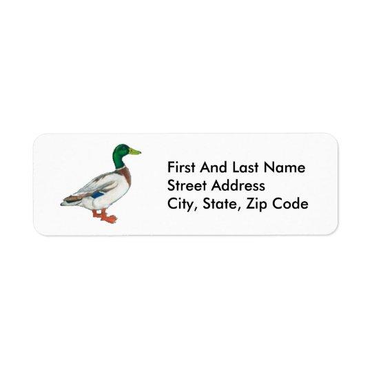 Duck Cartoon Design Return Address Label