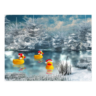 Duck Christmas Postcard