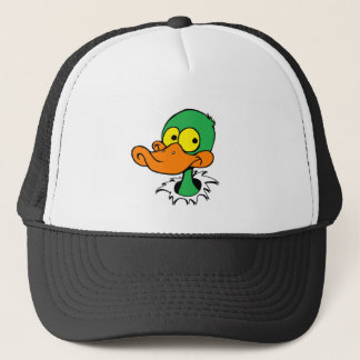 DUCK -color no BACKGROUND Trucker Hat