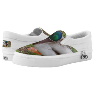 Duck Custom Zipz Slip On Shoes,  Men & Women Printed Shoes