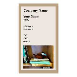 Duck Decoy on Bookshelf Business Card Template