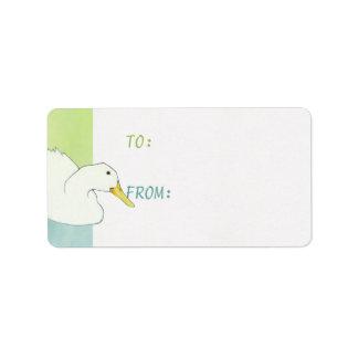 Duck Dip Gift Tag Sticker Address Label
