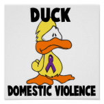 Duck Domestic Violence Poster