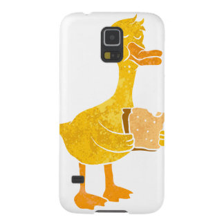 duck eating bread. galaxy s5 cases