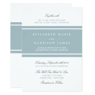 Duck Egg Blue Modern Wedding Card
