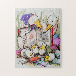 Duck family loves to read Puzzle