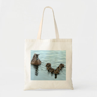 duck formation canvas bag