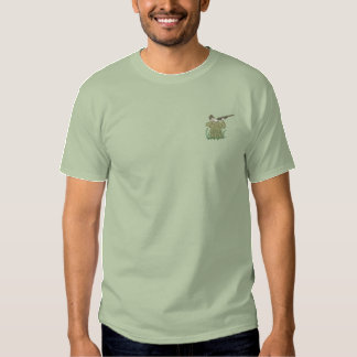 Duck Hunter Hunting Sports Embroidered T-Shirt