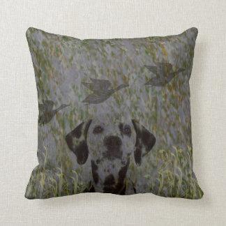 Duck Hunting Dog camo throw pillow
