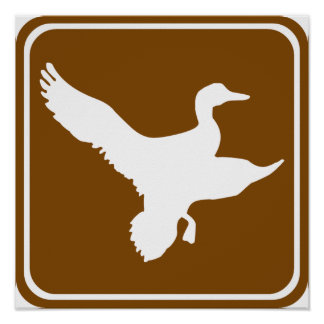 Duck Hunting Highway Sign (2)