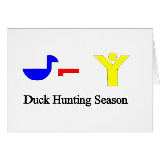 Duck Hunting Season Greeting Card