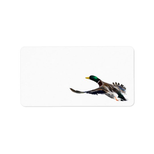 duck in flight address label