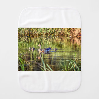 DUCK IN WATER AUSTRALIA ART EFFECTS BABY BURP CLOTHS