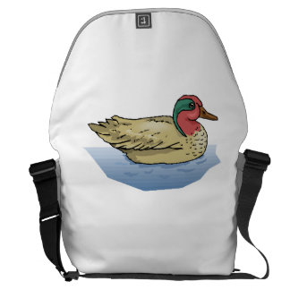 Duck In Water Courier Bag