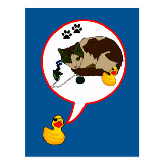 "Duck Lovers, ""Duckie Says!"" Postcard"