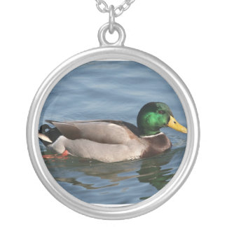 Duck Male Mallard Silver Plated Necklace