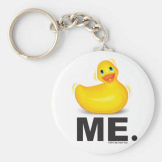 Duck Me: Classic Duckie Basic Round Button Key Ring