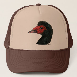 Duck:  Muscovy Head Trucker Hat