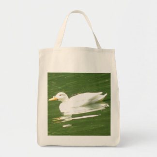 Duck on the water Organic Grocery Tote bag