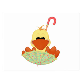Duck on Umbrella T-shirts and Gifts Postcard