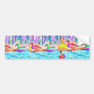 Duck Painting Bumper Sticker