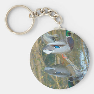Duck Reflected Key Ring