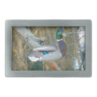 Duck Reflected Rectangular Belt Buckle