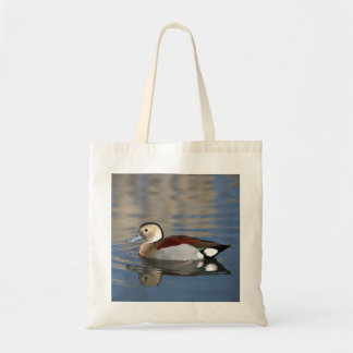 Duck, Ringed Teal beautiful reflection tote bag