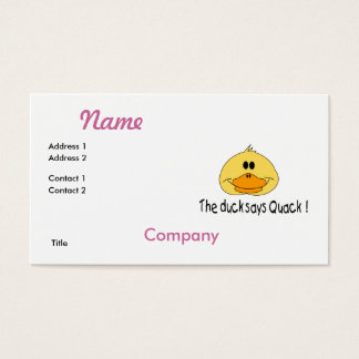 Duck Says Quack Business Card