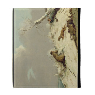Duck Shooting in Winter (oil on canvas) iPad Case