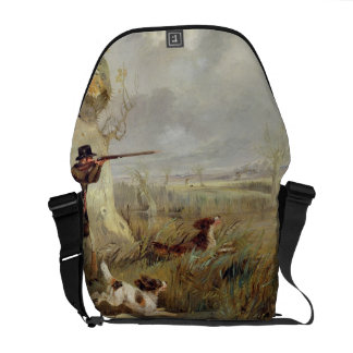 Duck Shooting (oil on canvas) Commuter Bag