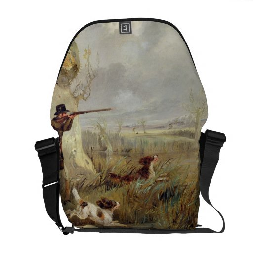 Duck Shooting (oil on canvas) Courier Bags