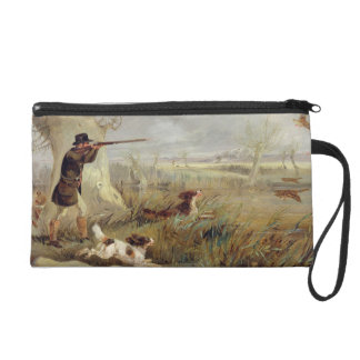Duck Shooting (oil on canvas) Wristlet Clutch