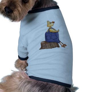 Duck Sitting On Log Ringer Dog Shirt