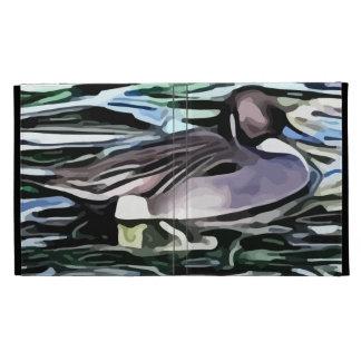 duck swimming painting iPad folio cases
