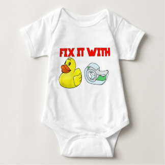 Duck tape baby bodysuit