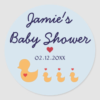 Duck Themed Baby Shower Stickers