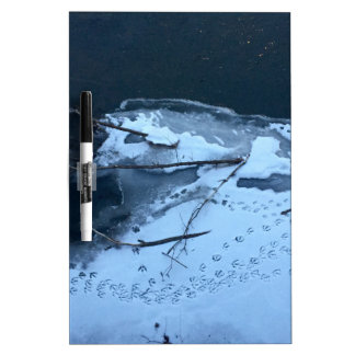 Duck Tracks In the Snow Dry Erase Board