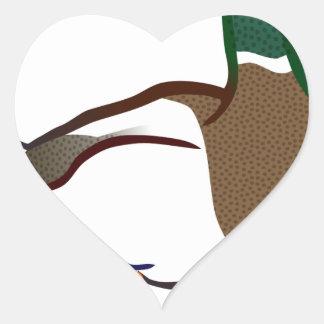 Duck Waiting Heart Sticker