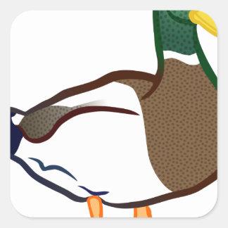 Duck Waiting Square Sticker