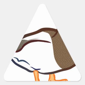 Duck Waiting Triangle Sticker