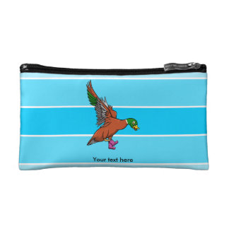 Duck With Boots On Illustration Makeup Bag