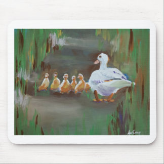 Duck with Ducklings Mouse Pad