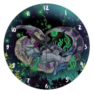 Duckbill Dinosaur Art Large Clock