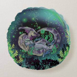 Duckbill Dinosaur Art Round Cushion