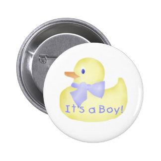Duckie It's a Boy 6 Cm Round Badge