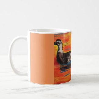 Duckie Sunset Basic White Mug